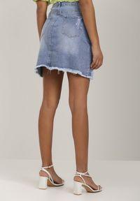 Niebieska spódnica mini Renee