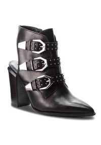 Czarne sandały Bronx na co dzień, z aplikacjami, casualowe