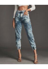 RETROFETE - Spodnie Myla. Kolor: niebieski. Styl: klasyczny