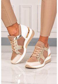 Beżowe buty sportowe Kati z cholewką