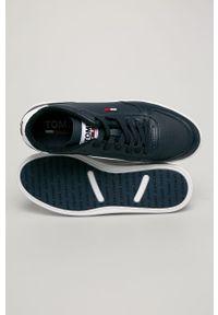 Niebieskie sneakersy Tommy Jeans na sznurówki, z cholewką #5