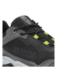 Big-Star - Sneakersy BIG STAR II174136 Czarny. Okazja: na uczelnię, na co dzień, na spacer. Kolor: czarny. Materiał: skóra ekologiczna, materiał. Szerokość cholewki: normalna. Wzór: aplikacja. Sport: turystyka piesza