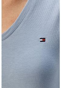 Niebieska bluzka TOMMY HILFIGER casualowa, na co dzień #5