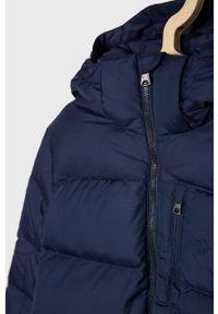 Niebieska kurtka Polo Ralph Lauren z kapturem, casualowa