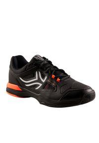 ARTENGO - Buty tenisowe męskie na każdą nawierzchnię Artengo TS500. Kolor: biały, czarny, wielokolorowy, szary. Materiał: kauczuk. Szerokość cholewki: normalna. Sport: tenis