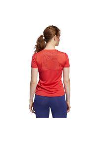 Adidas - Koszulka damska do biegania adidas Own The Run Tee FL7813. Materiał: materiał. Długość rękawa: krótki rękaw. Technologia: ClimaCool (Adidas). Długość: krótkie. Sport: bieganie