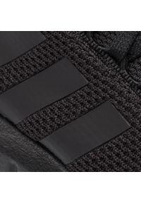 Czarne buty sportowe Adidas do biegania, z cholewką