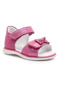 Różowe sandały Sergio Bardi Kids na lato, z aplikacjami