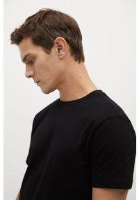 Czarny t-shirt Mango Man na co dzień, casualowy