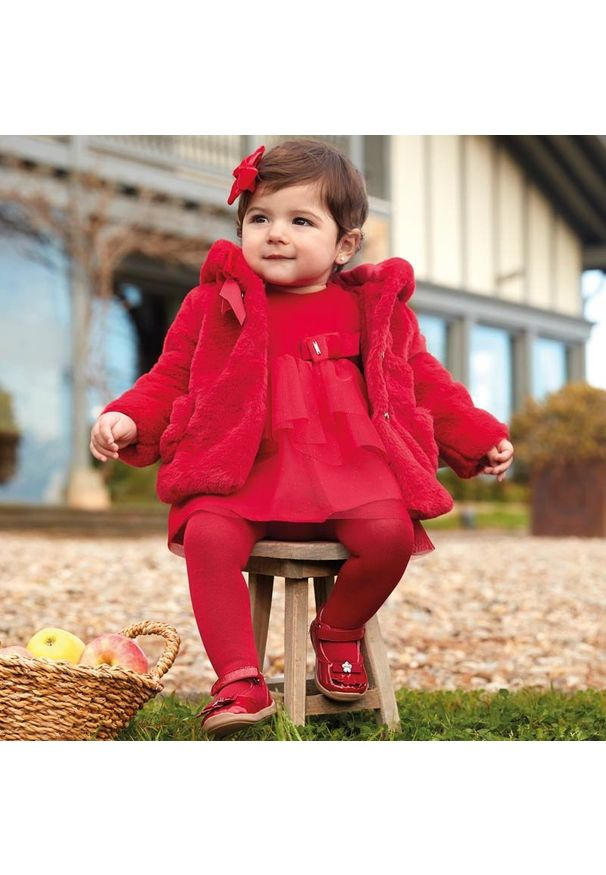 Czerwona sukienka Mayoral casualowa, na co dzień, prosta