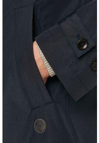 Niebieski płaszcz Marc O'Polo casualowy, polo, na co dzień