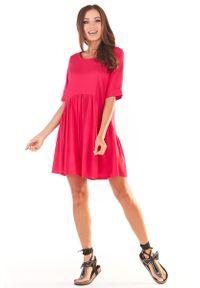 Różowa sukienka wizytowa Awama mini