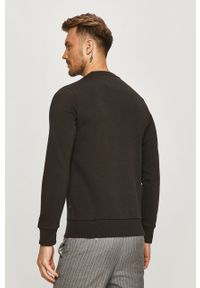 Czarna bluza nierozpinana Premium by Jack&Jones casualowa, z nadrukiem, bez kaptura