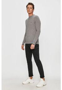 Szary sweter Calvin Klein z długim rękawem, na co dzień, casualowy, długi