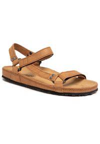 Brązowe sandały Nik klasyczne, na lato