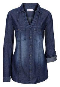Niebieska bluzka bonprix długa #7