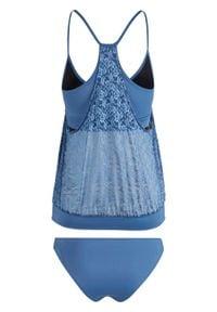 Niebieski strój kąpielowy bonprix z wyjmowanymi miseczkami