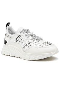 John Richmond - Sneakersy JOHN RICHMOND - 10148 B Bianco. Okazja: na co dzień. Kolor: biały. Materiał: skóra. Szerokość cholewki: normalna. Wzór: aplikacja. Styl: elegancki, sportowy, casual