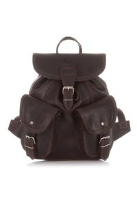 Skórzany plecak damski vintage c.brązowy PAOLO PERUZZI S-11-BR. Kolor: brązowy. Materiał: skóra. Styl: vintage