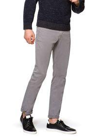 Szare spodnie Lancerto na co dzień, z haftami, casualowe