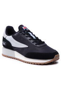 Fila - Sneakersy FILA - Retronique 1011265.17D Black/Gray Violet. Okazja: na co dzień. Kolor: czarny. Materiał: zamsz, materiał, skóra ekologiczna, skóra. Szerokość cholewki: normalna. Styl: casual