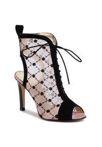 Czarne sandały Azurée na co dzień, casualowe