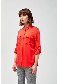 Czerwona koszula MOODO długa, z długim rękawem