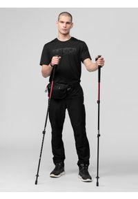 Czarne spodnie trekkingowe 4f