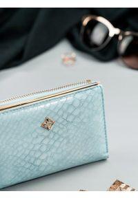 MILANO DESIGN - Portfel damski błękitny Milano Design K1212-SN L.BLUE. Kolor: niebieski. Materiał: skóra ekologiczna