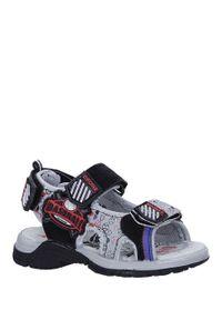 Casu - czarne sandały na rzepy casu la80. Zapięcie: rzepy. Kolor: czarny