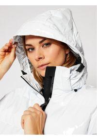 Biała kurtka zimowa EA7 Emporio Armani