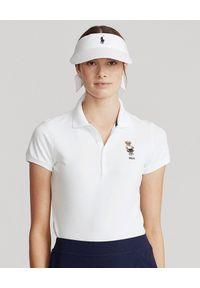 Ralph Lauren - RALPH LAUREN - Koszulka polo Tailored Fit. Typ kołnierza: polo. Kolor: biały. Materiał: bawełna, dresówka, jeans, prążkowany. Wzór: haft, aplikacja. Sezon: wiosna. Styl: klasyczny