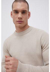 Premium by Jack&Jones - Sweter. Okazja: na co dzień. Kolor: beżowy. Materiał: dzianina. Długość rękawa: długi rękaw. Długość: długie. Styl: casual