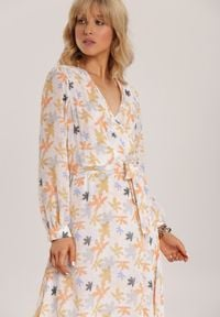 Renee - Pomarańczowa Sukienka Guinerinia. Kolor: pomarańczowy