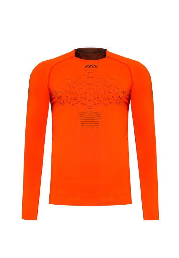 Pomarańczowa koszulka termoaktywna X-Bionic długa, z długim rękawem
