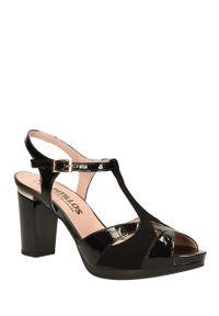 Czarne sandały Pitillos na lato