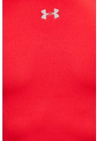 Under Armour - Longsleeve. Kolor: czerwony. Długość rękawa: długi rękaw