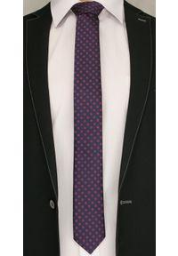 Czerwony krawat Angelo di Monti elegancki