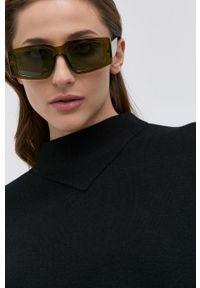 Hugo - Sweter wełniany. Okazja: na co dzień. Kolor: czarny. Materiał: wełna. Długość rękawa: długi rękaw. Długość: długie. Styl: casual