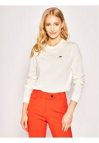 Biały sweter klasyczny Lacoste