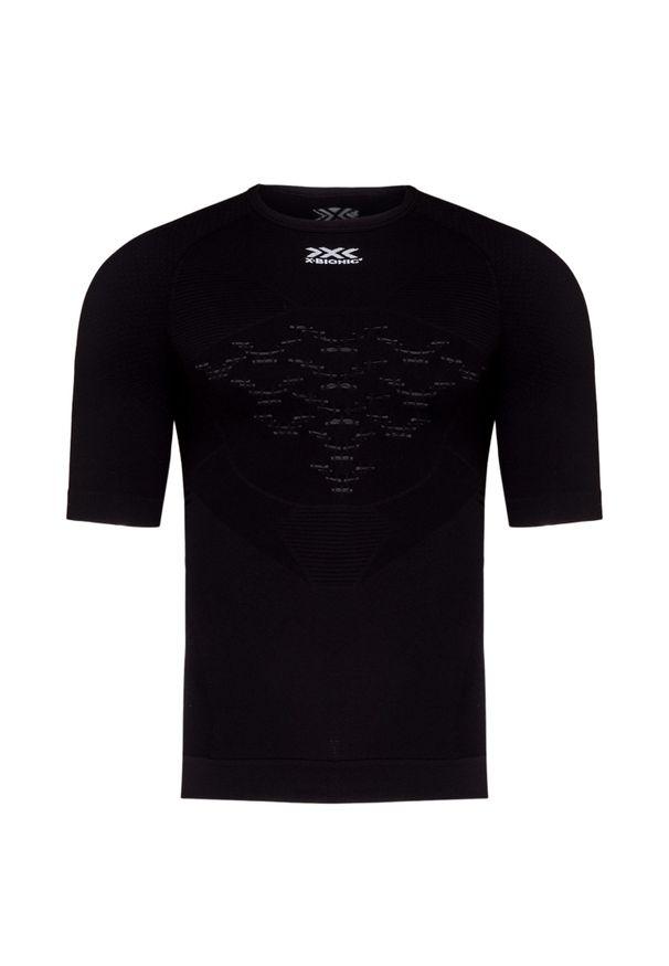 Czarna koszulka termoaktywna X-Bionic z krótkim rękawem, krótka