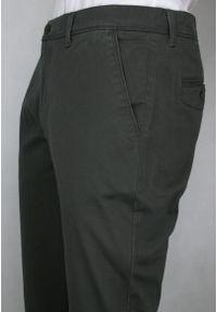 Pioneer - Elastyczne, Męskie Spodnie, PIONEER, Slim, Chinosy, Grafitowe, Popiel. Kolor: szary. Materiał: bawełna, elastan