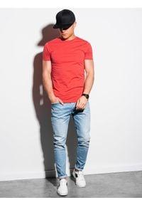 Pomarańczowy t-shirt Ombre Clothing