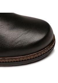 Czarne botki Gabor na średnim obcasie, na obcasie #6
