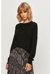 Czarny sweter Desigual casualowy, długi, z długim rękawem, na co dzień