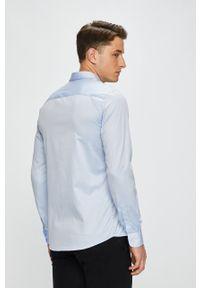 Niebieska koszula Only & Sons długa, z włoskim kołnierzykiem, na co dzień, casualowa
