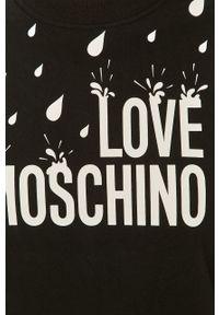 Czarna bluza Love Moschino długa, bez kaptura