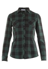 Born2be - Ciemnozielona Koszula Lisixa. Kolor: zielony. Materiał: jeans