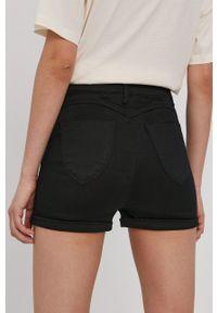 Haily's - Szorty jeansowe. Kolor: czarny. Materiał: jeans. Wzór: gładki