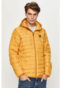 Żółta kurtka Quiksilver na co dzień, casualowa, z kapturem